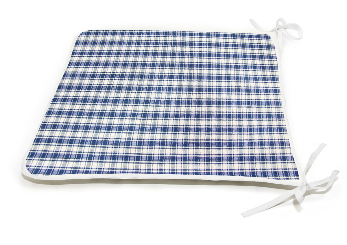 "Подушка на стул KauffOrt ""Коттедж"", цвет: синий, 39 x 40 см"