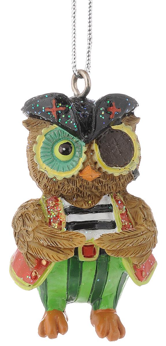Украшение новогоднее подвесное Феникс-Презент Сова-пират, 3,5 х 3,4 х 5,5 см феникс презент украшение новогоднее подвесное сова пират из полирезины