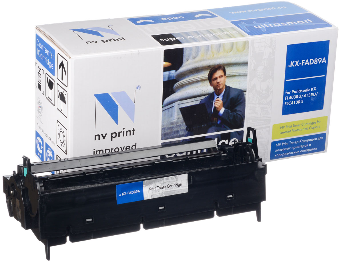 NV Print KXFAD89A, Black фотобарабан для Panasonic KX-FL403RU/413RU