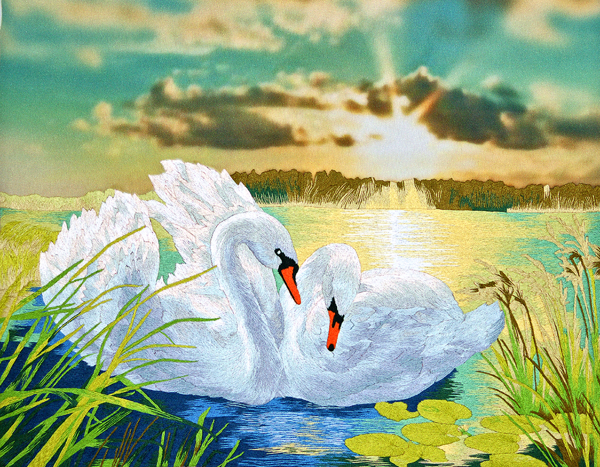 Картинки с добрым утром с природой красивые с лебедями