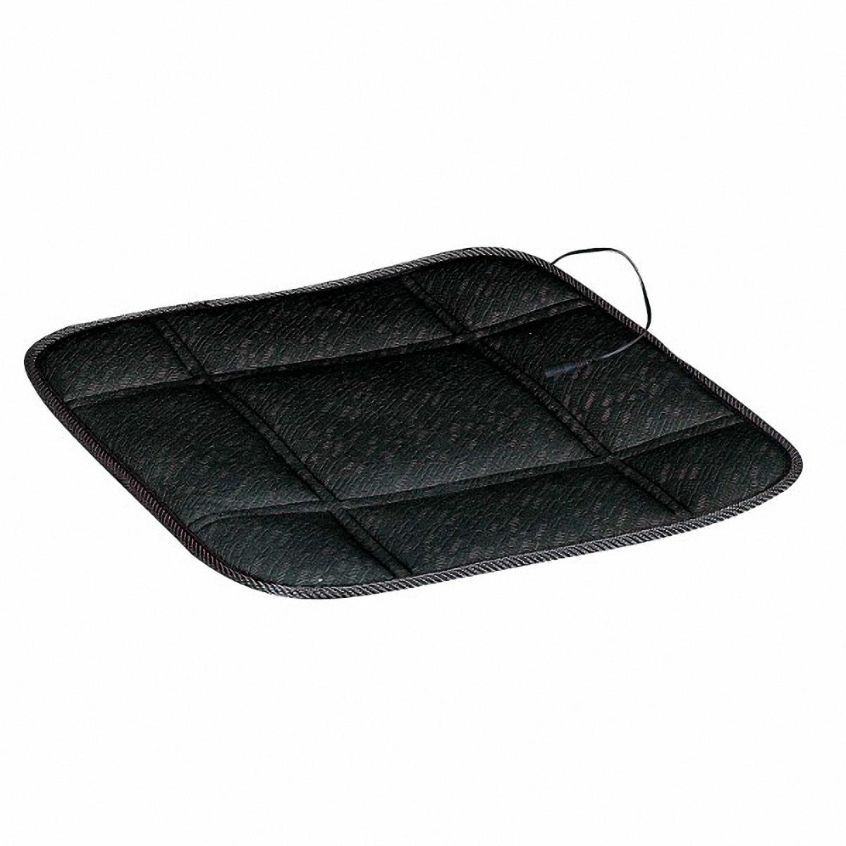 Подогрев для сиденья Skyway, без спинки, цвет: черный, 43 х 43 см защита спинки сиденья skyway s06101011 black