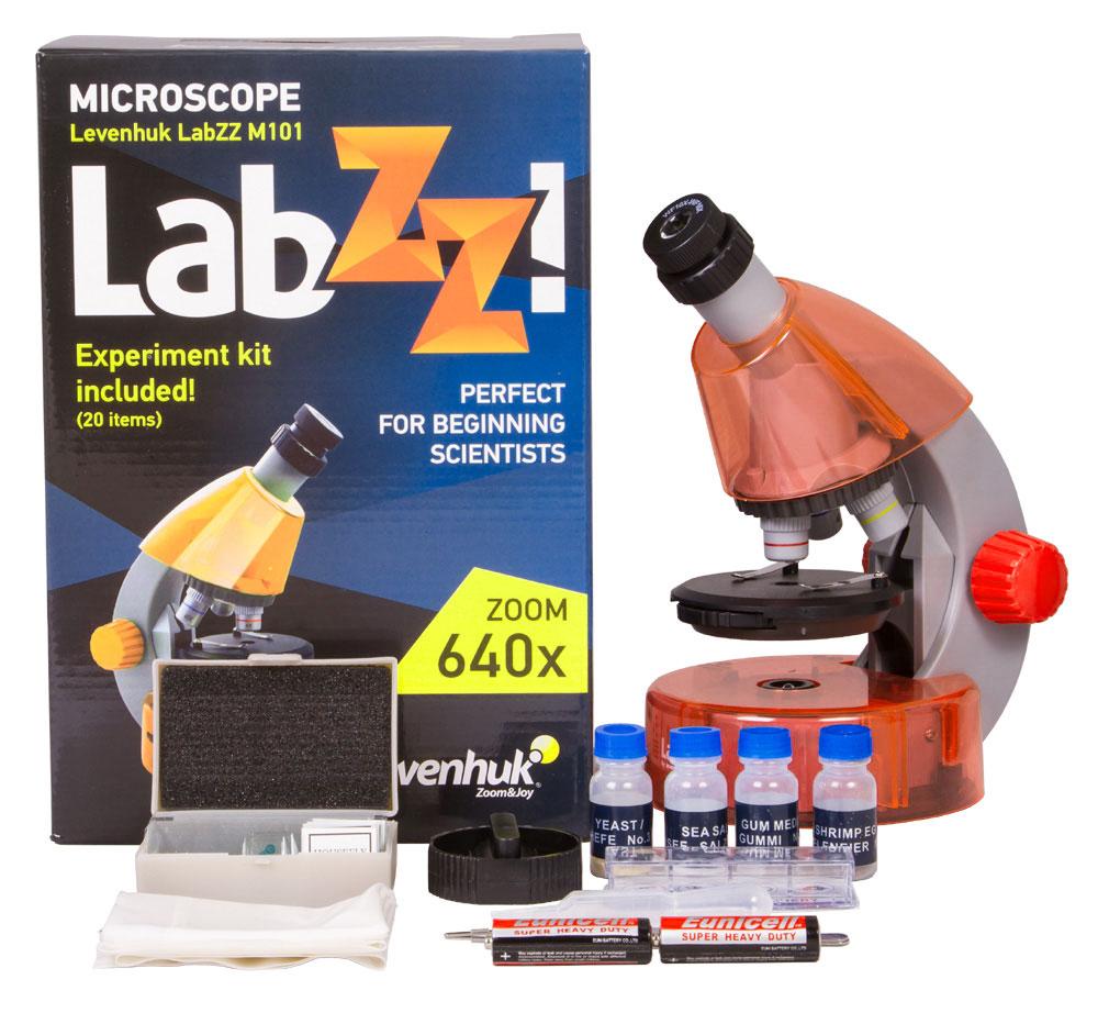 Levenhuk LabZZ M101, Orangeмикроскоп Levenhuk