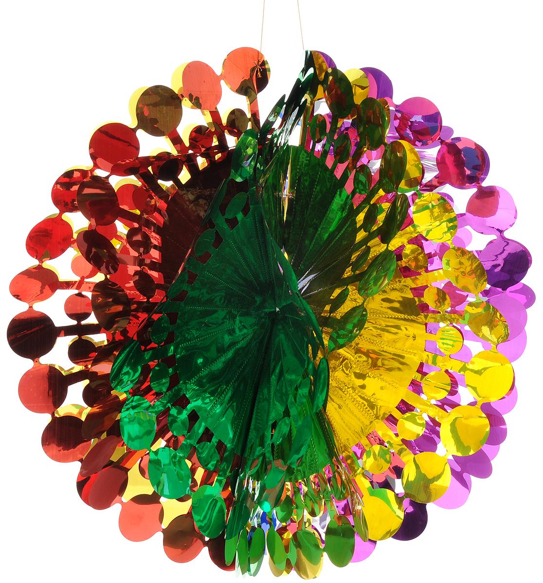 Украшение новогоднее подвесное Magic Time Шар цветной, 47 x 24 см новогоднее украшение crystal deco шар капля в ассортименте