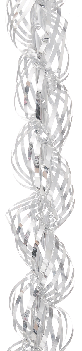 "Мишура новогодняя ""Magic Time"", цвет: серебристый, диаметр 4 см, длина 1,5 м"