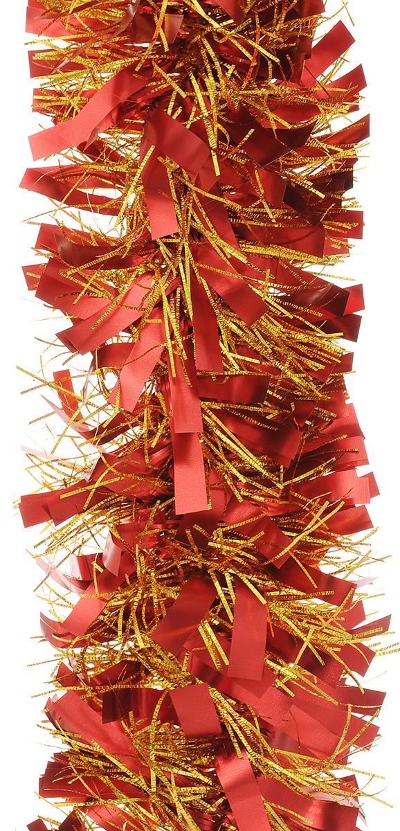 """Мишура новогодняя """"Magic Time"""", цвет: красный, золотистый, диаметр 9 см, длина 200 см. 4212"""