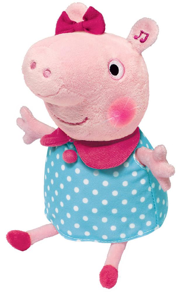 Peppa Pig Мягкая озвученная игрушка Пеппа цвет розовый голубой 30 см