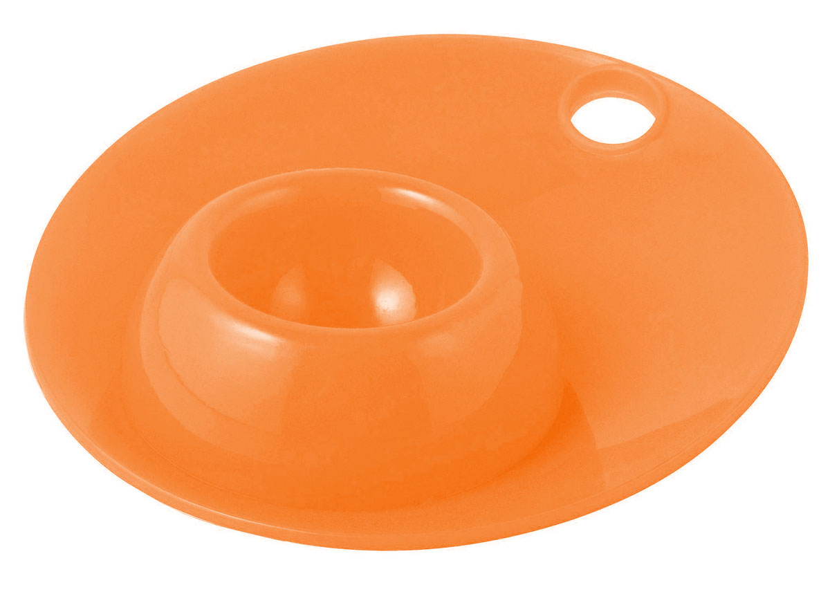 Силиконовая подставка для яйца Regent Inox Завтрак, цвет: оранжевый подставка для бумажных полотенец regent inox trina 14 33 см