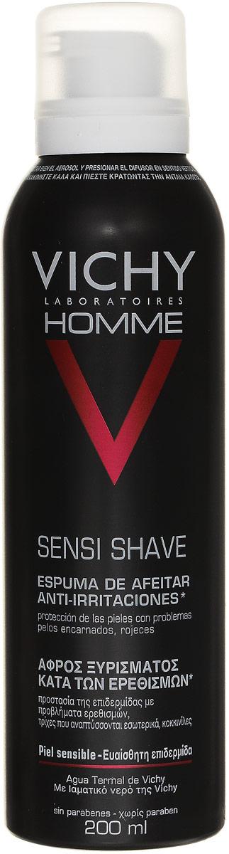 """Vichy Пена для бритья для чувствительной кожи """"Vichy Homme"""" , склонной к покраснению, 200 мл"""