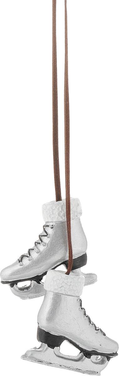 Украшение новогоднее подвесное Magic Time Коньки, цвет: серый, длина 48,5 см. 41810 украшение коньки magic home