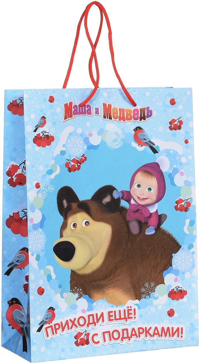 Маша и Медведь Пакет подарочный Маша зимой 35 см х 25 см х 9 см подарочный набор волшебный сун маша и медведь подарочный набор волшебный сун