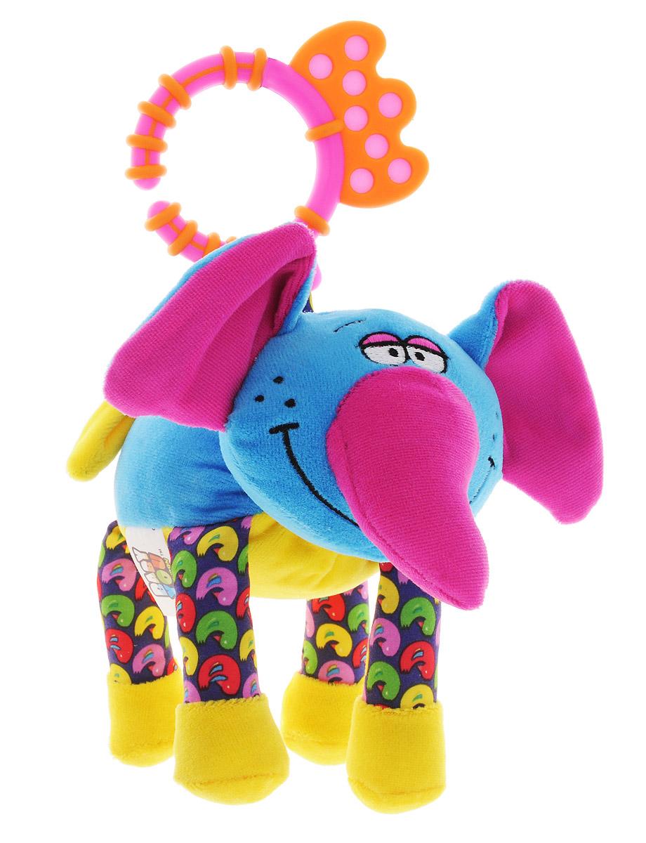 Bondibon Мягкая развивающая игрушка-растяжка Слон