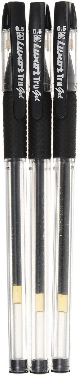 Luxor Набор гелевых ручек Tru Gel цвет черный 3 шт набор гелевых ручек xiaomi alpha letter gel pen 4шт red