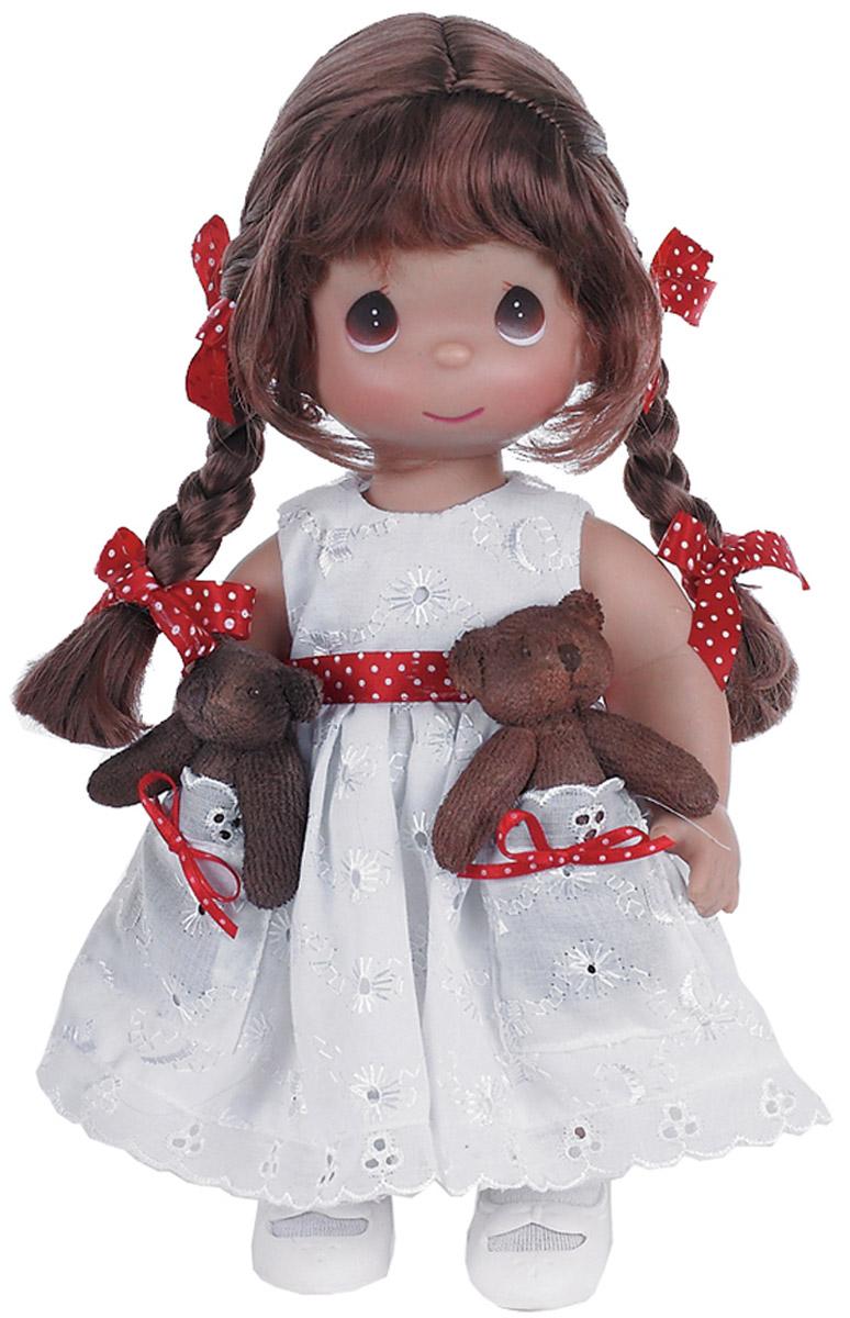 где купить Precious Moments Кукла Друзья в кармашке брюнетка дешево