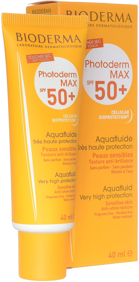 Bioderma Аквафлюид Photoderm MAX, SPF 50+, 40 мл bioderma photoderm max