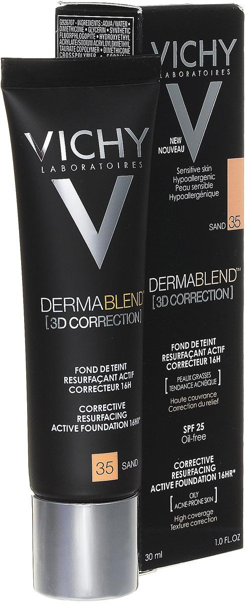 Vichy Dermablend Тональный крем 3D, тон №35 песочный, 30 мл недорого