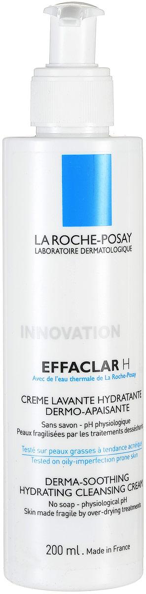 La Roche-Posay Effaclar Н Очищающ гель-крем, 200 мл la roche posay очищающий гель крем effaclar h 200 мл
