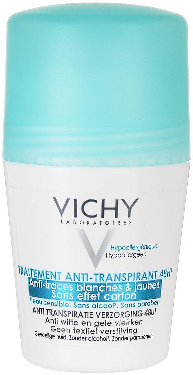 Vichy Дезодорант-антиперспирант шариковый 48 часов против белых и желтых пятен, 50 мл дезодорантантиперспирант 48ч шариковый против белых и желтых пятен 50 мл vichy deodorant