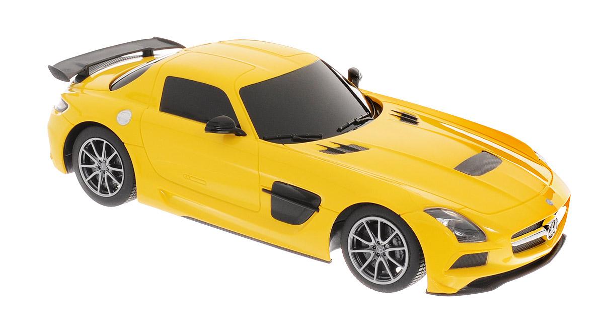 Rastar Радиоуправляемая модель Mercedes-Benz SLS AMG цвет желтый радиоуправляемая модель rastar mercedes g55 amg масштаб 1 24