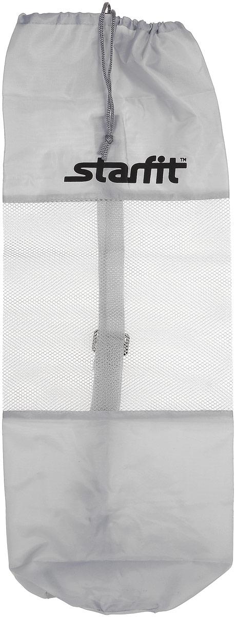 Cумка спортивная для ковриков Starfit FA-301, цвет: серый, 24,5 х 66 см бриджи сауна starfit sw 301 цвет серый размер l