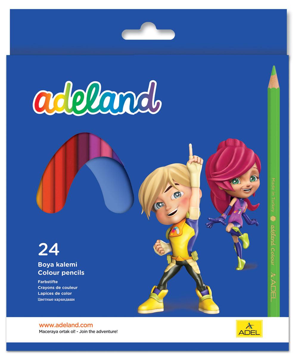 Adel Набор цветных карандашей Adeland 24 шт 211-2365-100