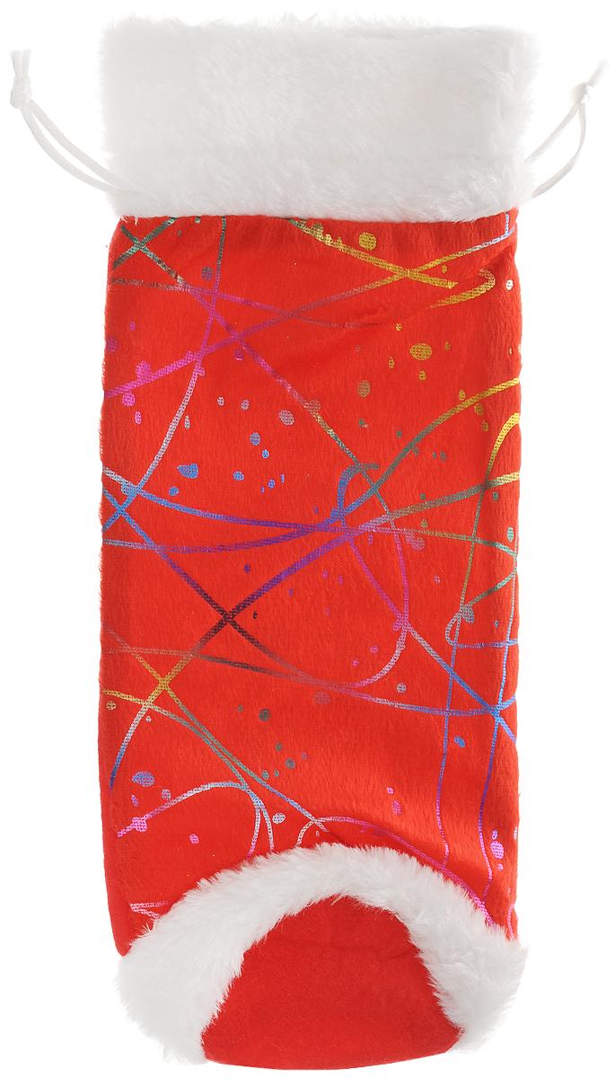 Мешок для подарков Феникс-презент Золотой узор, 30 x 12 см мешок подарочный новогодние мотивы 10 12 см полиэстер