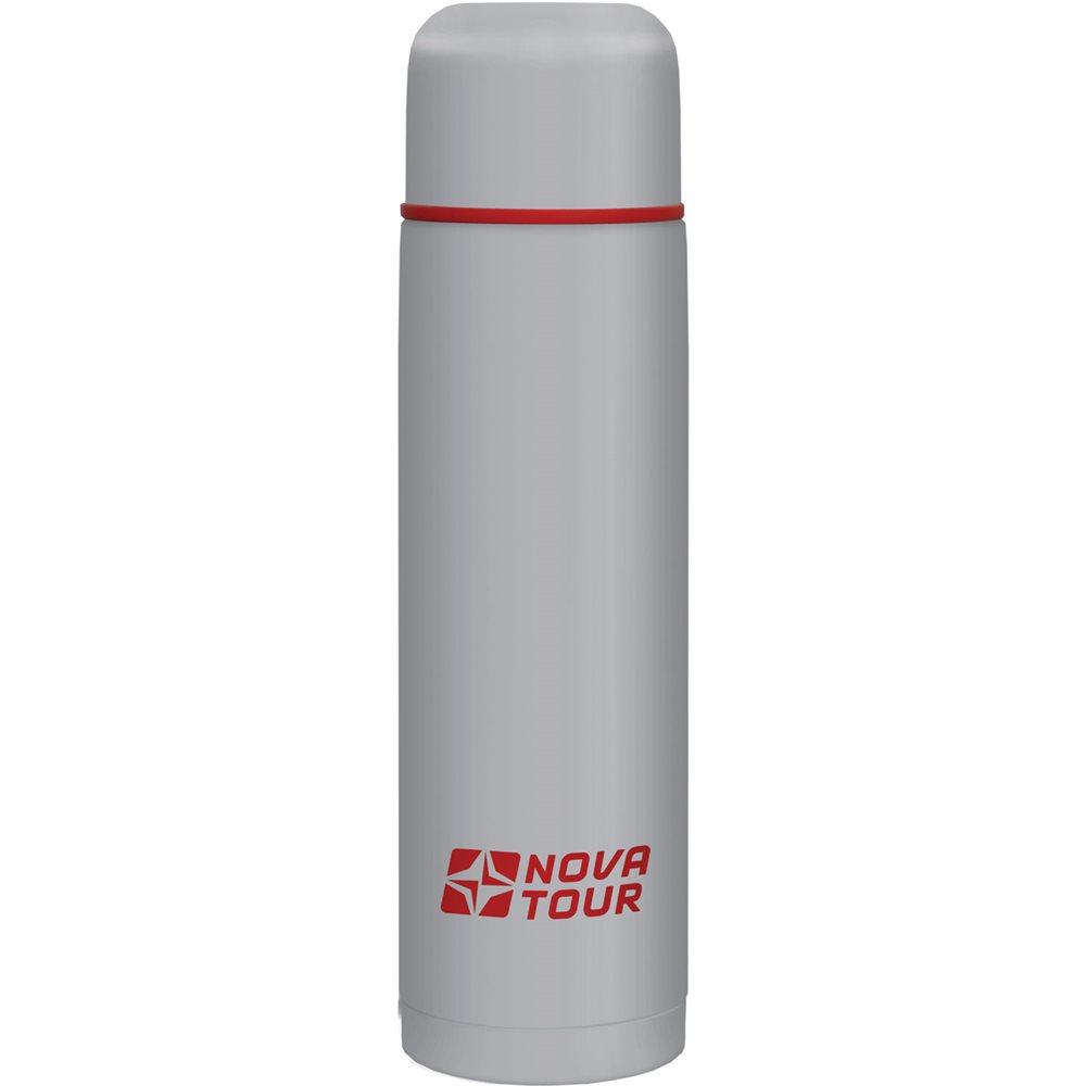 Термос NOVA TOUR Титаниум, цвет: серый, красный, 0,75 л гермомешок внутренний nova tour лайтпак 5 л цвет красный