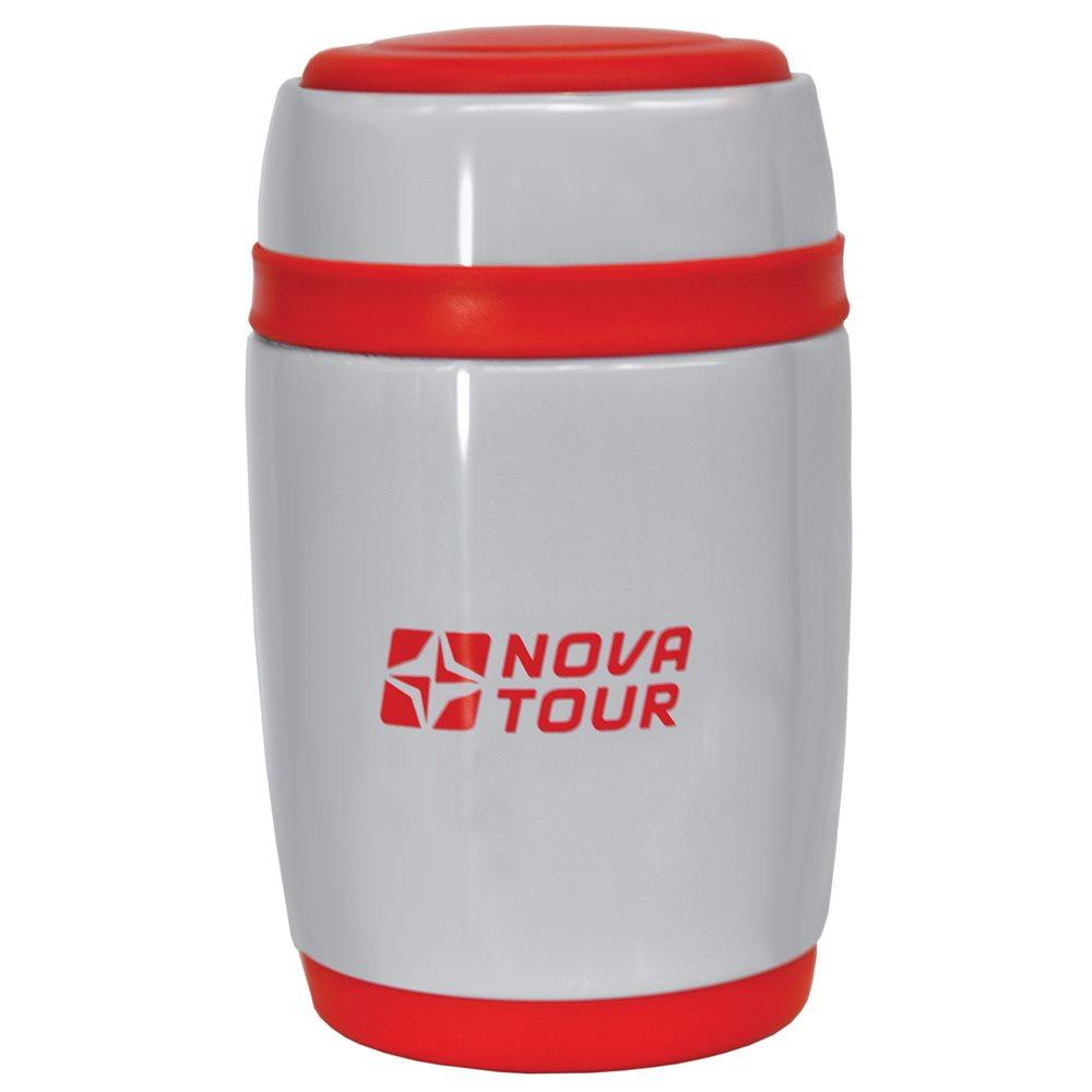 """Термос NOVA TOUR """"Ланч"""", цвет: серый, красный, 0,48 л"""