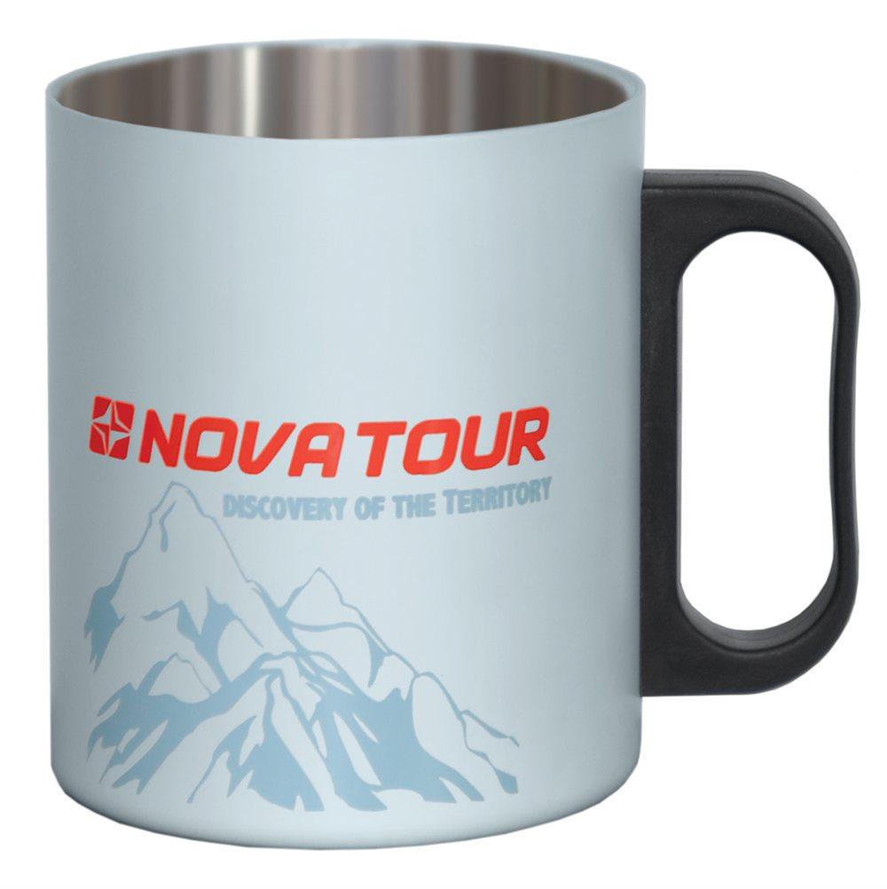 Термокружка NOVA TOUR, цвет: серый, черный, 0,35 л nova tour джемпер