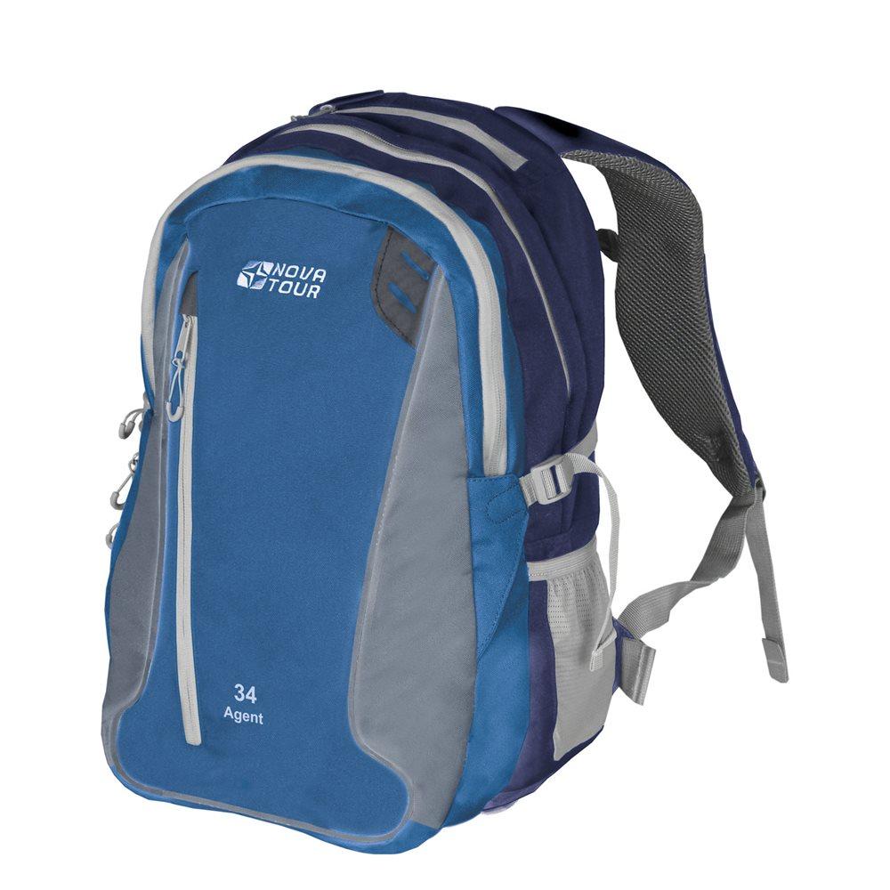 Рюкзак городской Nova Tour Агент, цвет: синий, 34 л бады thorne research