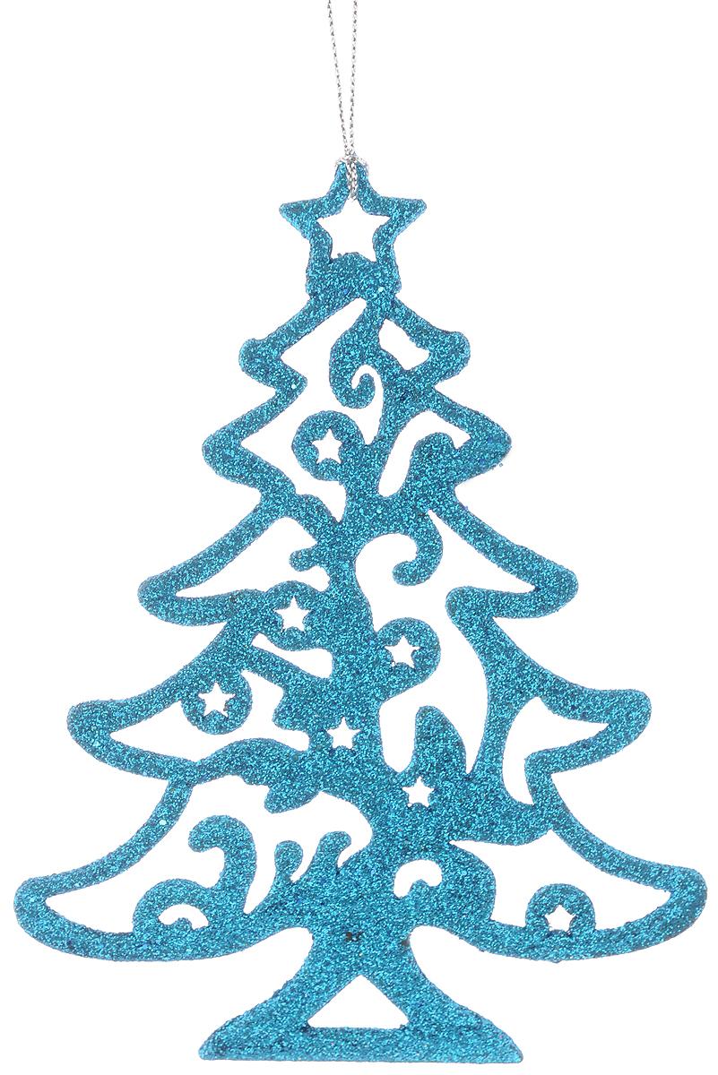 """Украшение новогоднее подвесное Magic Time """"Голубая елочка"""", 16 х 12 см"""