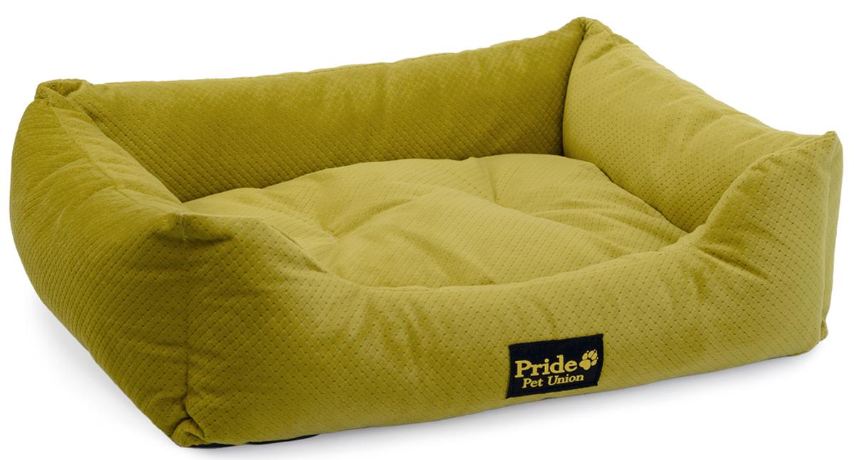 """Лежак для животных Pride """"Престиж"""", цвет: зеленый, 90 х 80 х 25 см"""