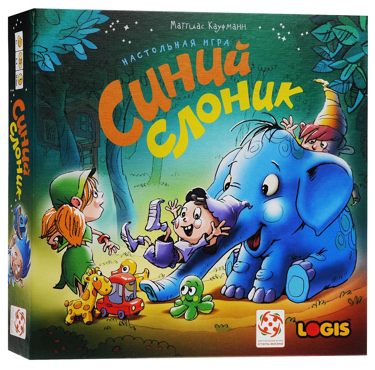 Logis Настольная игра Синий слоник4650000320989Настольная игра Logis Синий слоник - это классическая игра-ходилка, но в очень необычном оформлении. Вместо привычного поля ваши фигурки будут залезать на горку в виде Синего слонёнка! А наградой за труды станут фигурки игрушек, которые можно собрать у подножия горки. Два варианта кубика: для совсем маленьких, которые только учатся считать, и для детей постарше, которые уже знают числа. Время игры: 20 минут. Состав игры: 1 горка-слон, 20 игрушек 4 цветов (по 5 игрушек каждого цвета), 4 фигурки разных цветов, 1 кубик с точками, 1 кубик с цифрами, правила игры на русском языке. Рекомендуем!