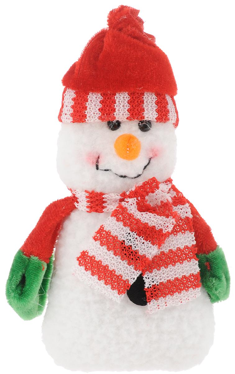 Украшение новогоднее подвесное Феникс-Презент Снеговик с шарфом, 15 x 8 см украшение новогоднее подвесное феникс презент карабас барабас 3 5 x 3 5 x 8 5 см
