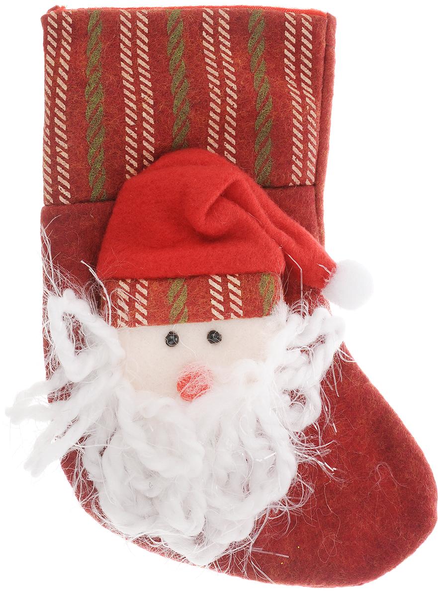 Фото - Украшение новогоднее подвесное Magic Time Дед Мороз в колпаке, 18 x 12 см новогоднее украшение на голову magic time дед мороз в полосатом колпаке 78606