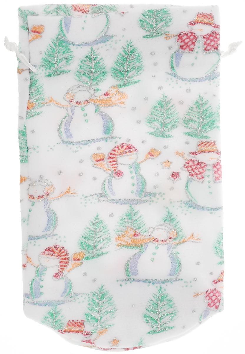 "Мешок для подарков Magic Time ""Снеговики и елки"", 27,5 x 16,5 см"