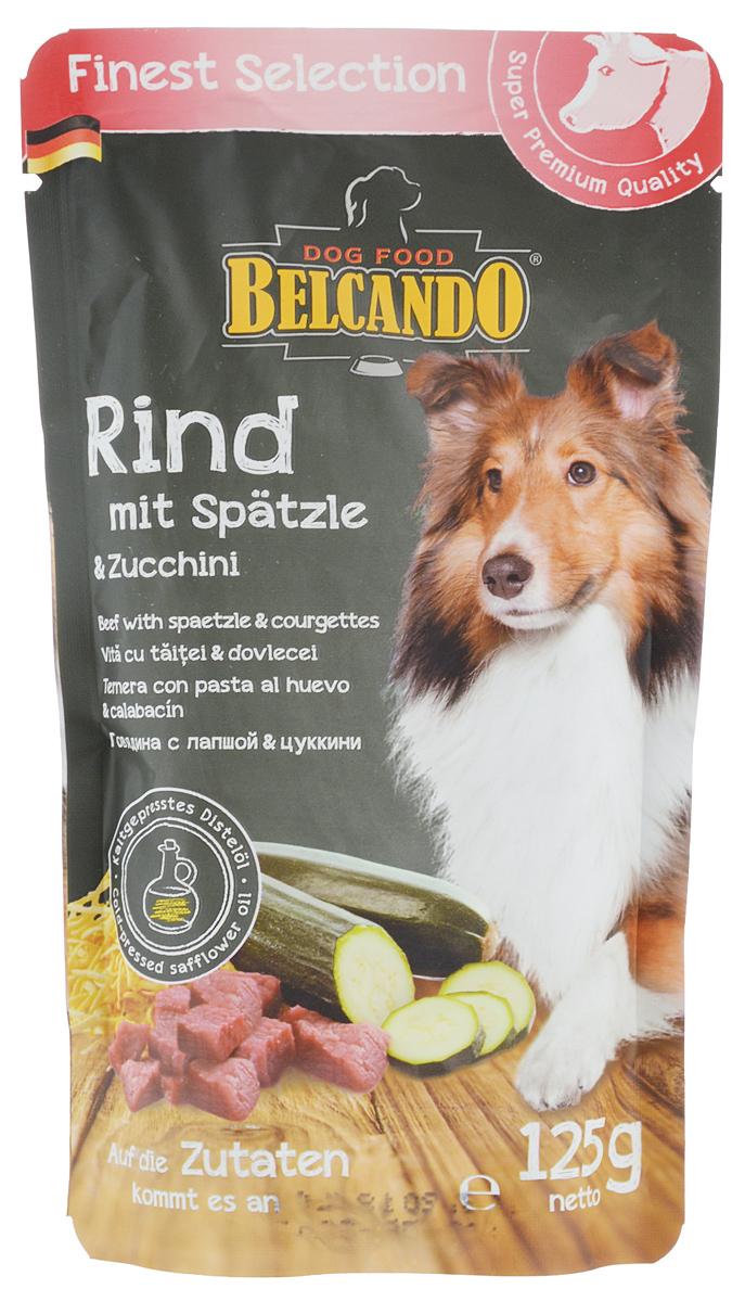 Консервы для собак Belcando, с говядиной, лапшой и цуккини, 125 г. 43350 консервы для собак belcando с отборным мясом 800 г