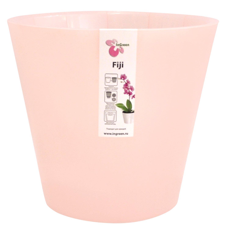 Горшок для цветов InGreen Фиджи. Орхидея, цвет: розовый, диаметр 16 см поддон для балконного ящика ingreen цвет белый длина 60 см