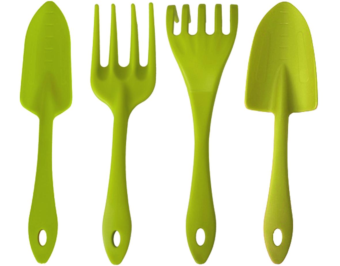 Набор садовых инструментов Ingreen, цвет: салатовый, 4 предмета цена