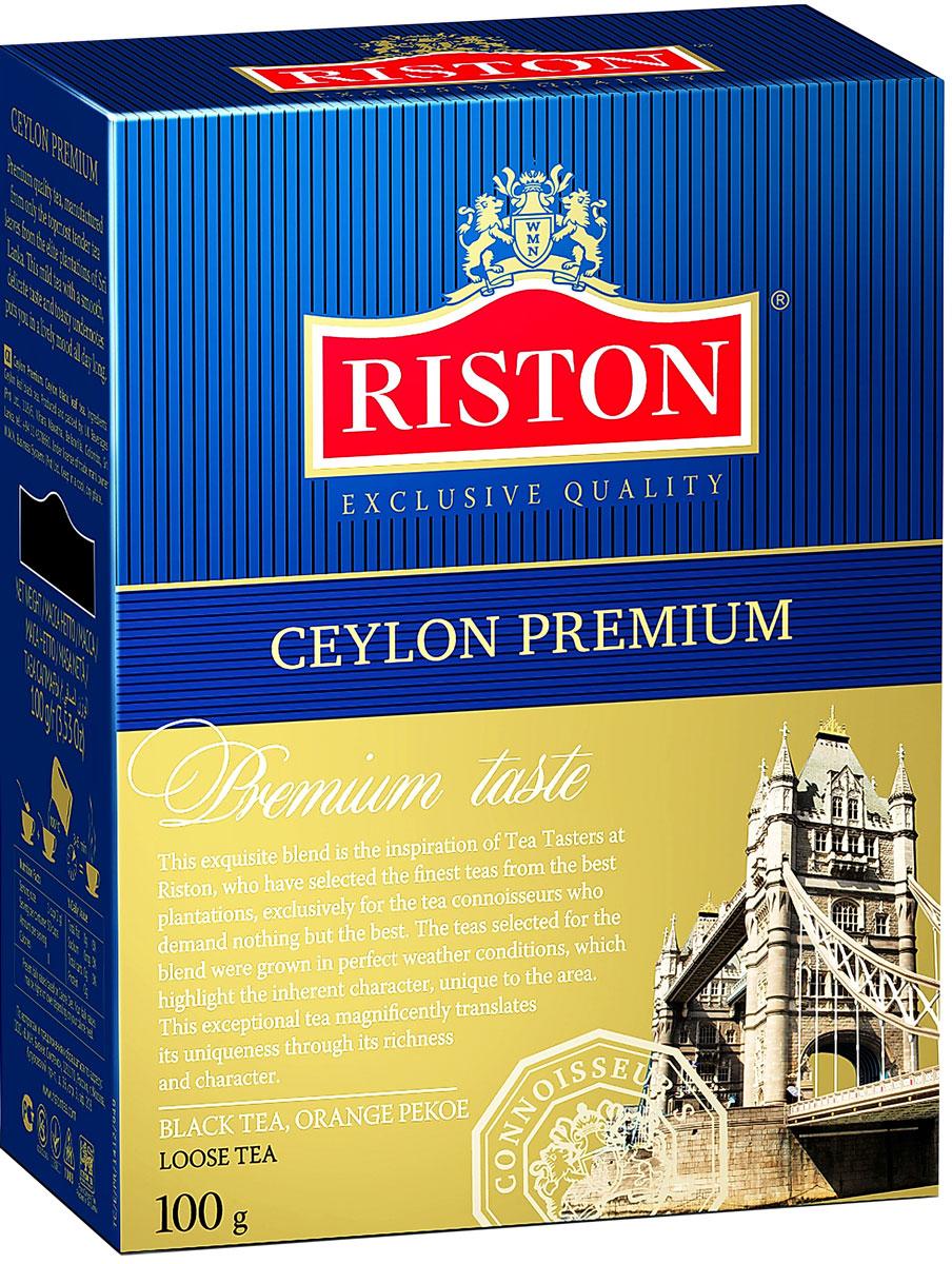 Фото - Riston Цейлонский Премиальный черный листовой чай, 100 г riston элитный английский черный листовой чай 200 г