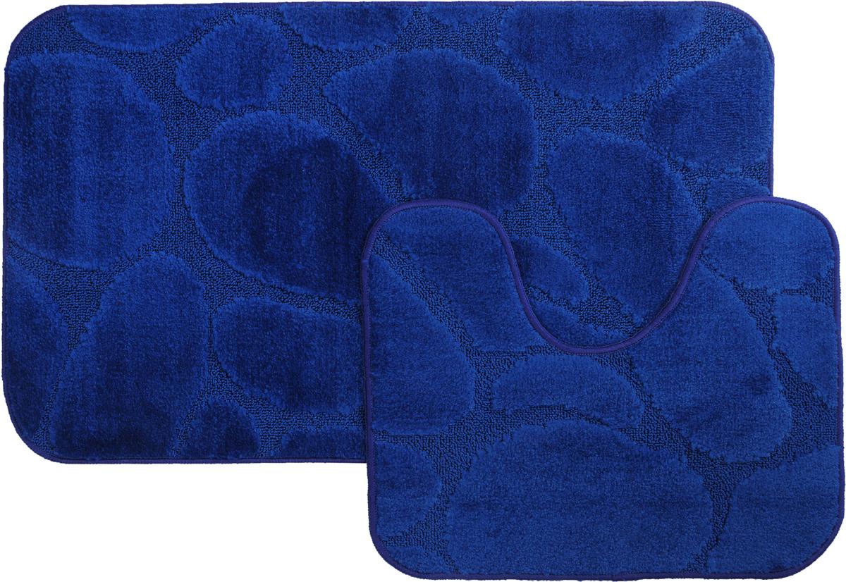 Набор ковриков для ванной MAC Carpet Рома. Камни, цвет: темно-синий, 60 х 100 см, 50 х 60 см, 2 шт11544-100006Набор MAC Carpet Рома. Камни, выполненный из полипропилена, состоит из двух ковриков для ванной комнаты, один из которых имеет вырез под унитаз. Противоскользящее основание изготовлено из термопластичной резины. Коврики мягкие и приятные на ощупь, отлично впитывают влагу и быстро сохнут. Высокая износостойкость ковриков и стойкость цвета позволит вам наслаждаться покупкой долгие годы. Можно стирать вручную или в стиральной машине на деликатном режиме при температуре 30°С.