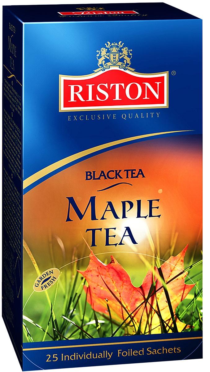 Riston Кленовый Сироп черный чай в пакетиках, 25 шт riston фруктовое ассорти черный чай в пакетиках 25 шт