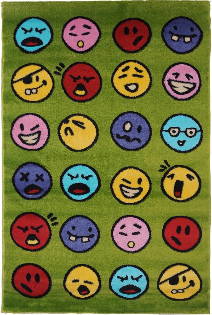 Ковер детский Kamalak Tekstil Emoji, прямоугольный, 100 x 150 см ковер kamalak tekstil прямоугольный цвет кремовый 100 x 150 см ук 0400