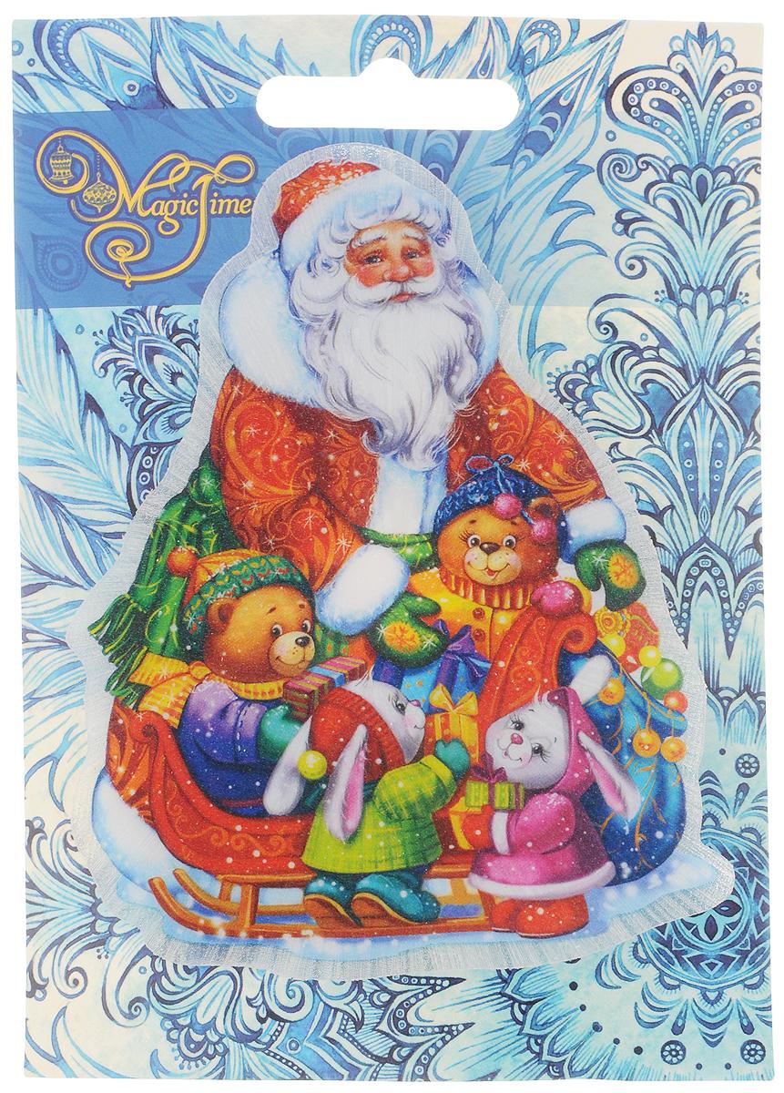 Украшение новогоднее Magic Time Новогоднее настроение, со светодиодной подсветкой, 11 x 10 x 3 см stainless steel home security door stop alarm 3 x lr44