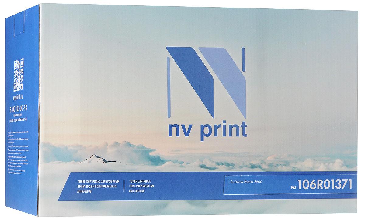 Картридж NV Print 106R01371, черный, для лазерного принтера