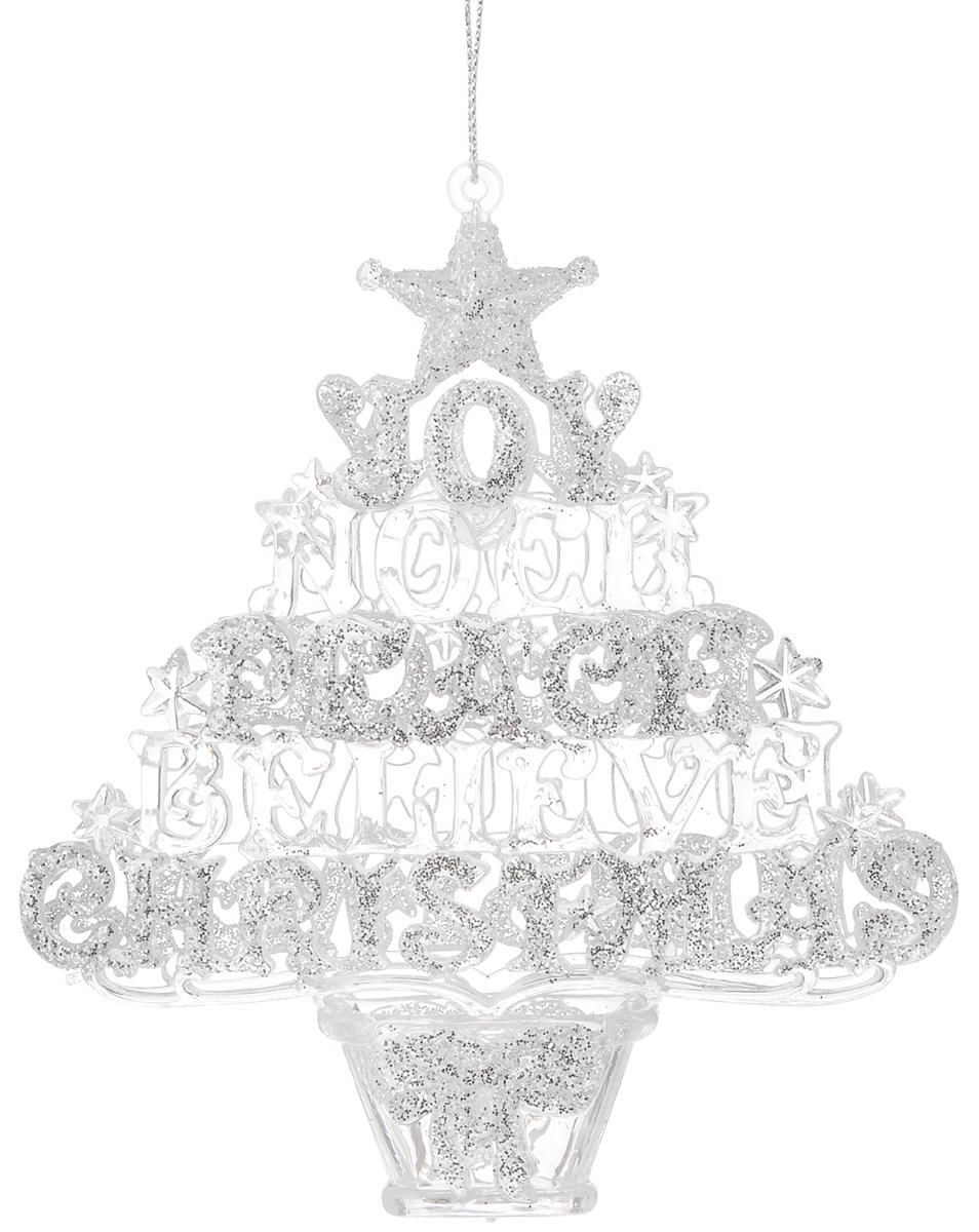 """Украшение новогоднее подвесное Magic Time """"Рождественская елочка"""", высота: 13,3 см"""