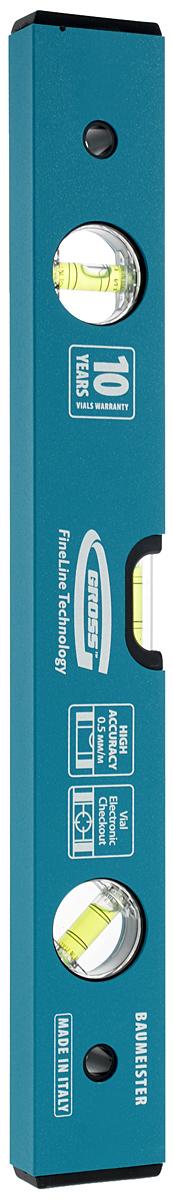 Уровень Gross, усиленный, 3 колбы, 40 см33624Уровень Gross используется при необходимости контроля горизонтальных и вертикальных плоскостей. Оснащен дополнительной пузырьковой колбой 45°, необходимой при работе с перекрытиями несущих конструкций, откосами и крышами. Толщина профиля составляет 1,7 мм. Уровень устойчив к продольным скручиваниям и повышенным нагрузкам. Толщина профиля: 1,7 мм. Количество колб: 3. Длина уровня: 40 см. Рекомендуем!