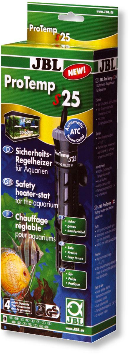 Нагреватель для аквариума JBL ProTemp S, с терморегулятором, 25 Вт нагреватель aqua el easyheater пластиковый для аквариума 150w