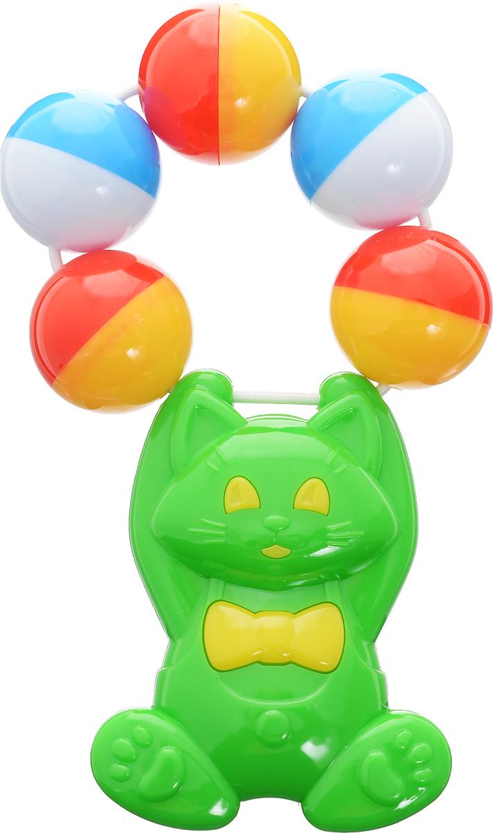 Stellar Погремушка Кошка цвет зеленый цена и фото