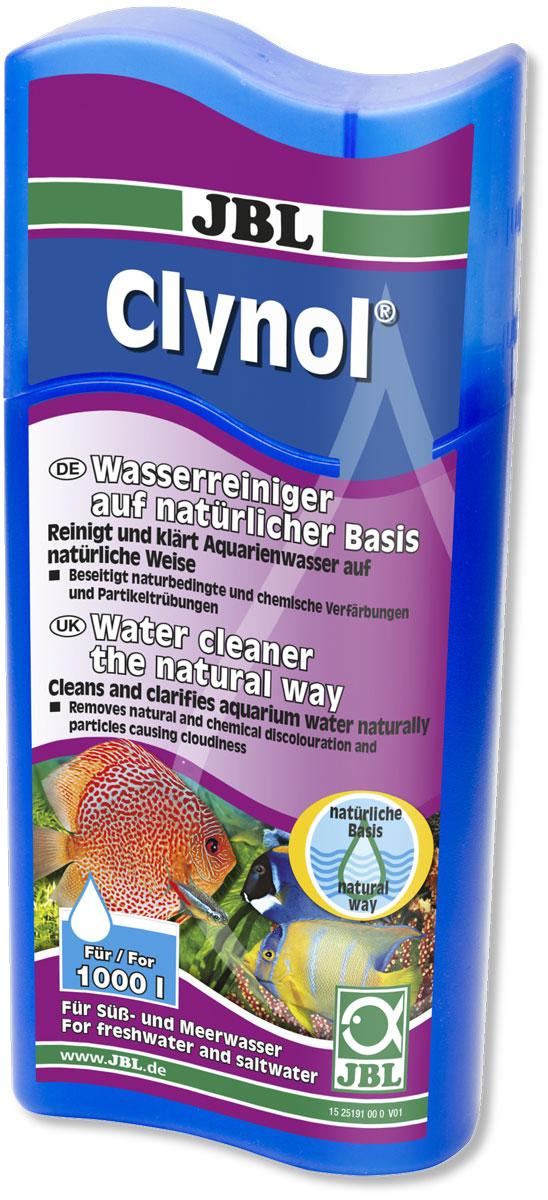 Препарат JBL Clynol, для очистки воды, на натуральной основе, 250 мл препарат jbl ektol fluid plus 250 от плавниковой гнили и др внешн бактериаль заболев 100мл на 500л