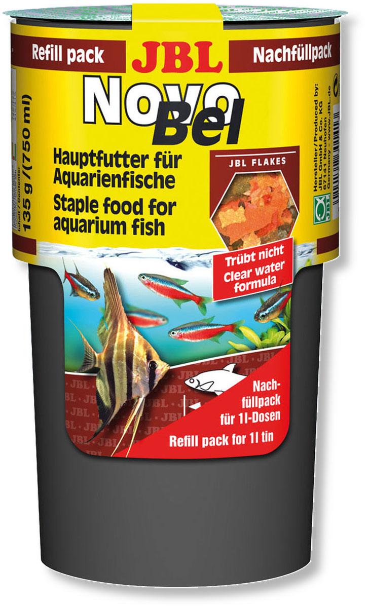 Корм JBL NovoBel Refill для всех аквариумных рыб, в форме хлопьев, 135 г (750 мл) корм для рыб jbl novobel основной в форме хлопьев для всех аквариумных рыб 1000мл 160г